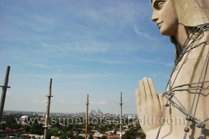 Mother Mary looking over the city of Philadelphia
