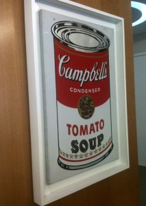 Andy Warhol campbell's soup can