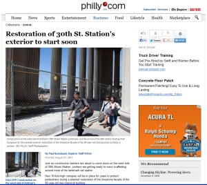Philly Inquirer article Amtrak superior scaffold