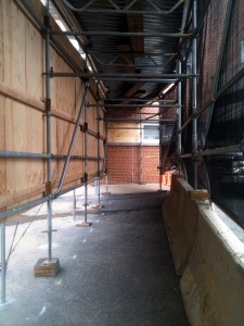 Scaffold rental, scaffolding rental, Riddle Memorial Hospital Canopy 12