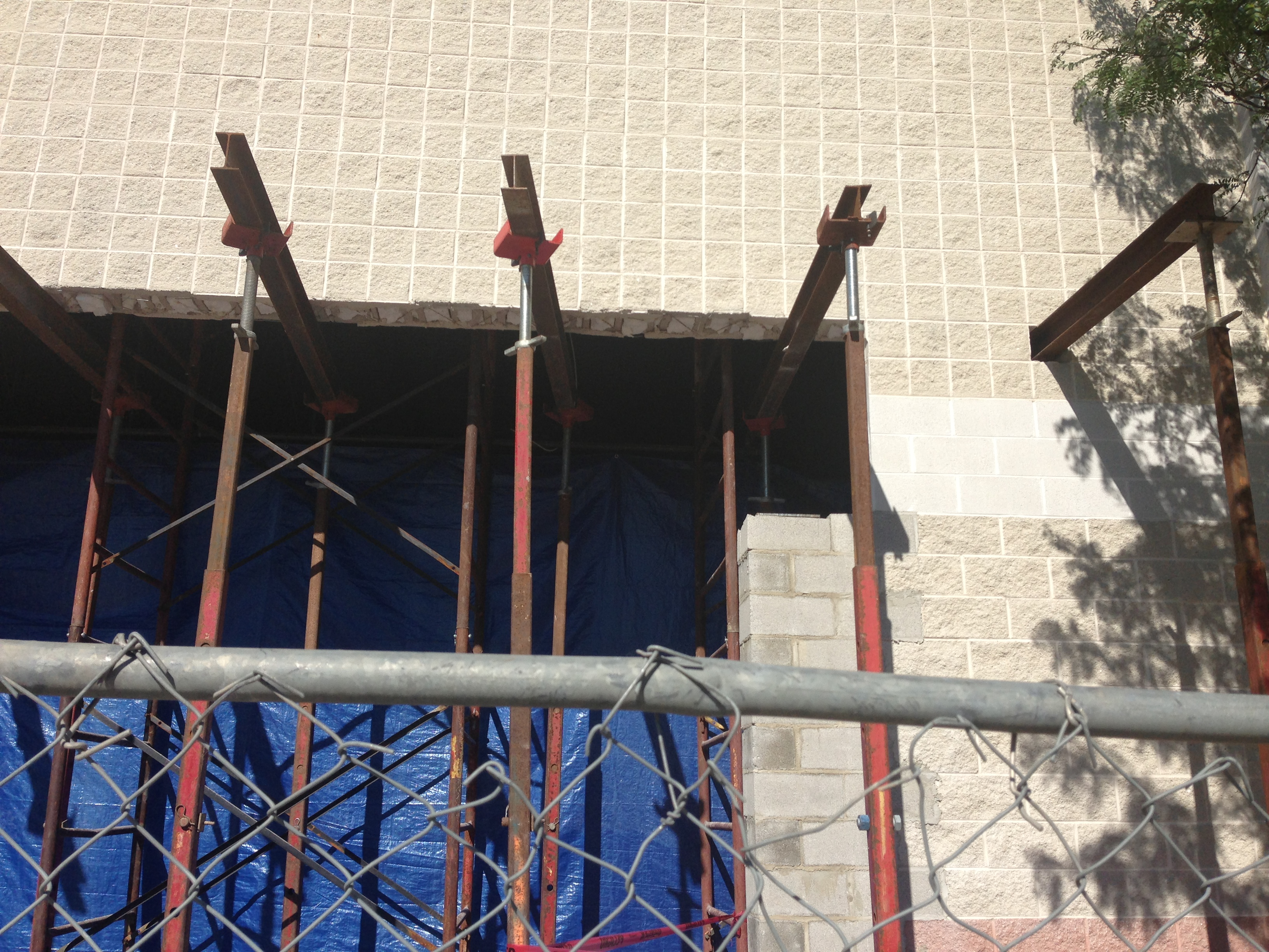 Needle Beam Shoring For Wall : Superior scaffold shoring up the mid atlantic